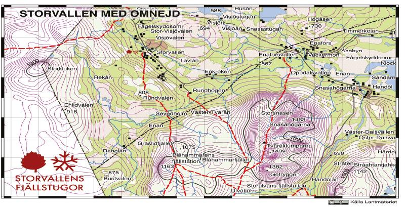Storvallen karta Översikt-A5