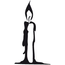 Symbol för idékursen, silluetten av ett ljus