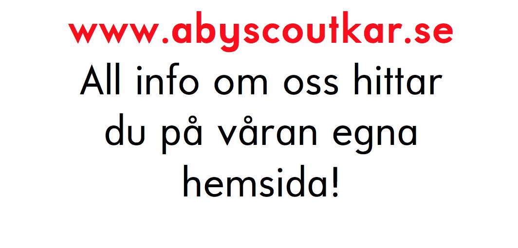 Besök vår egen hemsida! www.abyscoutkar.se